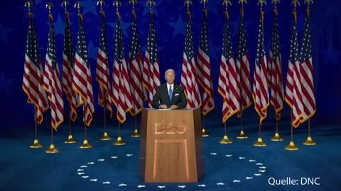 Joe Biden nimmt Nominierung an - Herausforderer Trumps