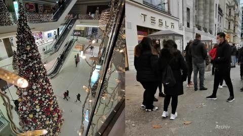 Neue Corona-Regeln im Dezember: Schlange stehen vor Läden?