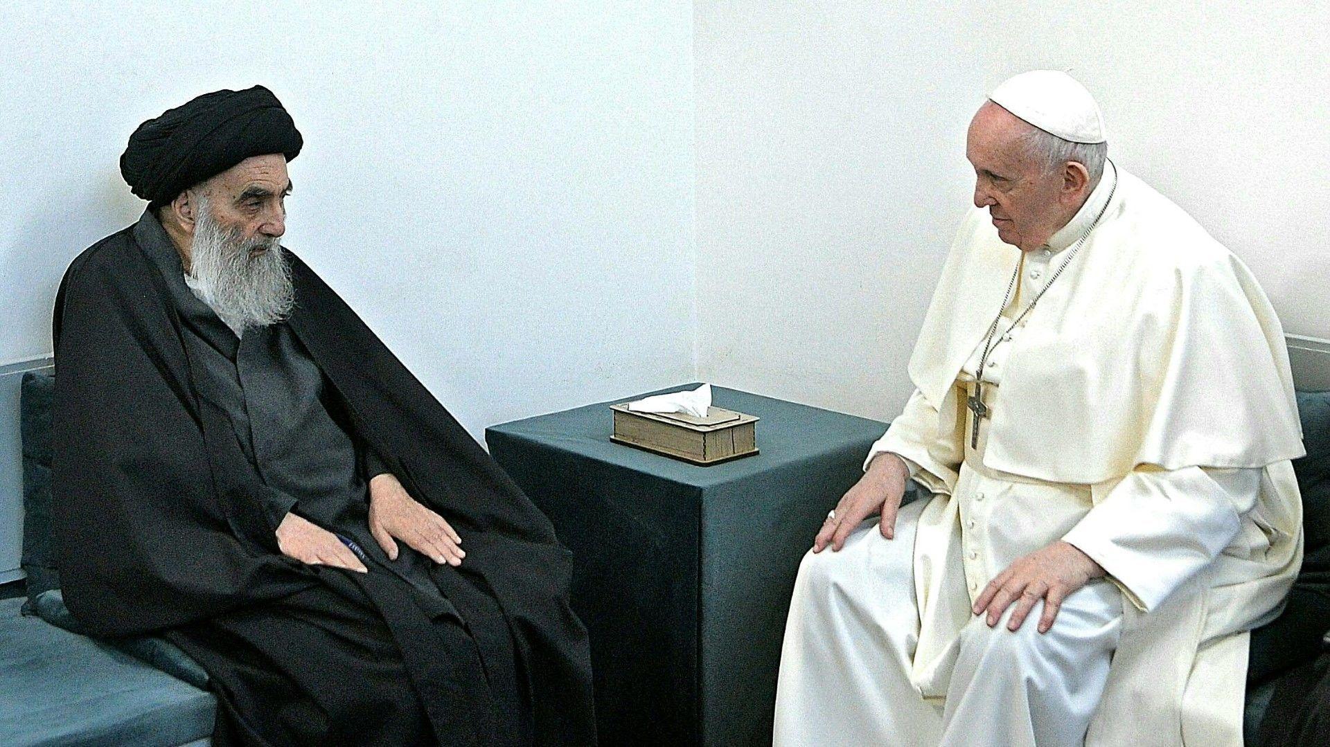 Irak: Papst Franziskus bei Schiitenführer Sistani