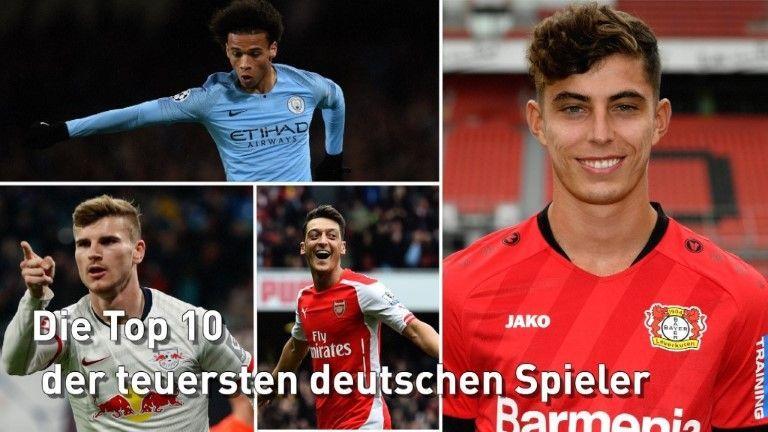 Top 10: Die teuersten deutschen Fußballer – Havertz vor Werner