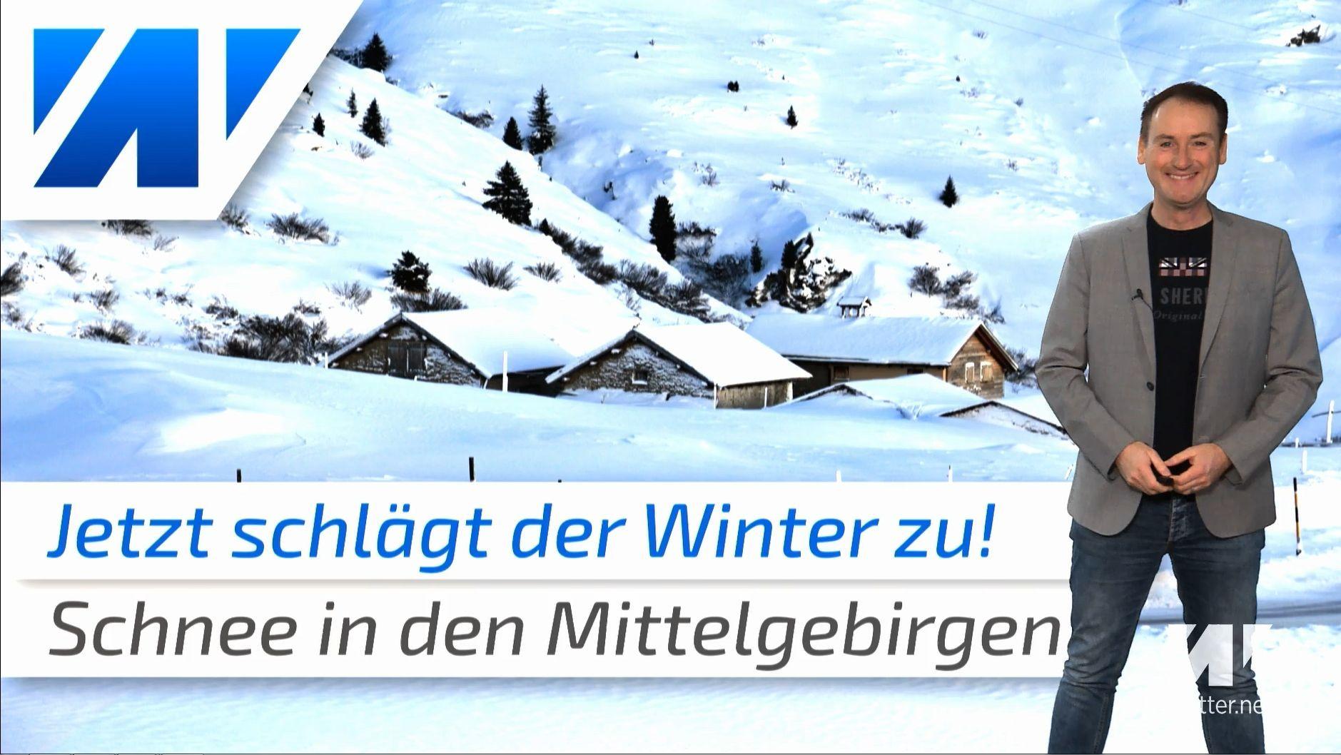 Jetzt schlägt der Winter zu: Wo wird´s weiß?