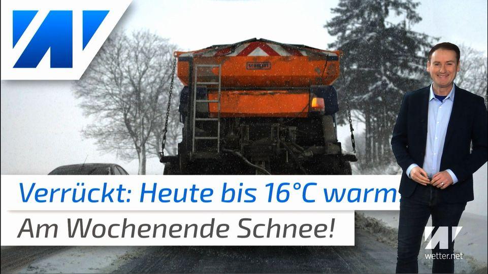 Irres Januar-Wetter! Heute bis 16°C und am Wochenende Schneeflocken!