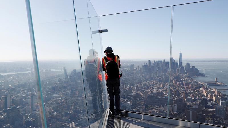 New York: Aussichtsplattform mit Glasboden in 345 Metern Höhe