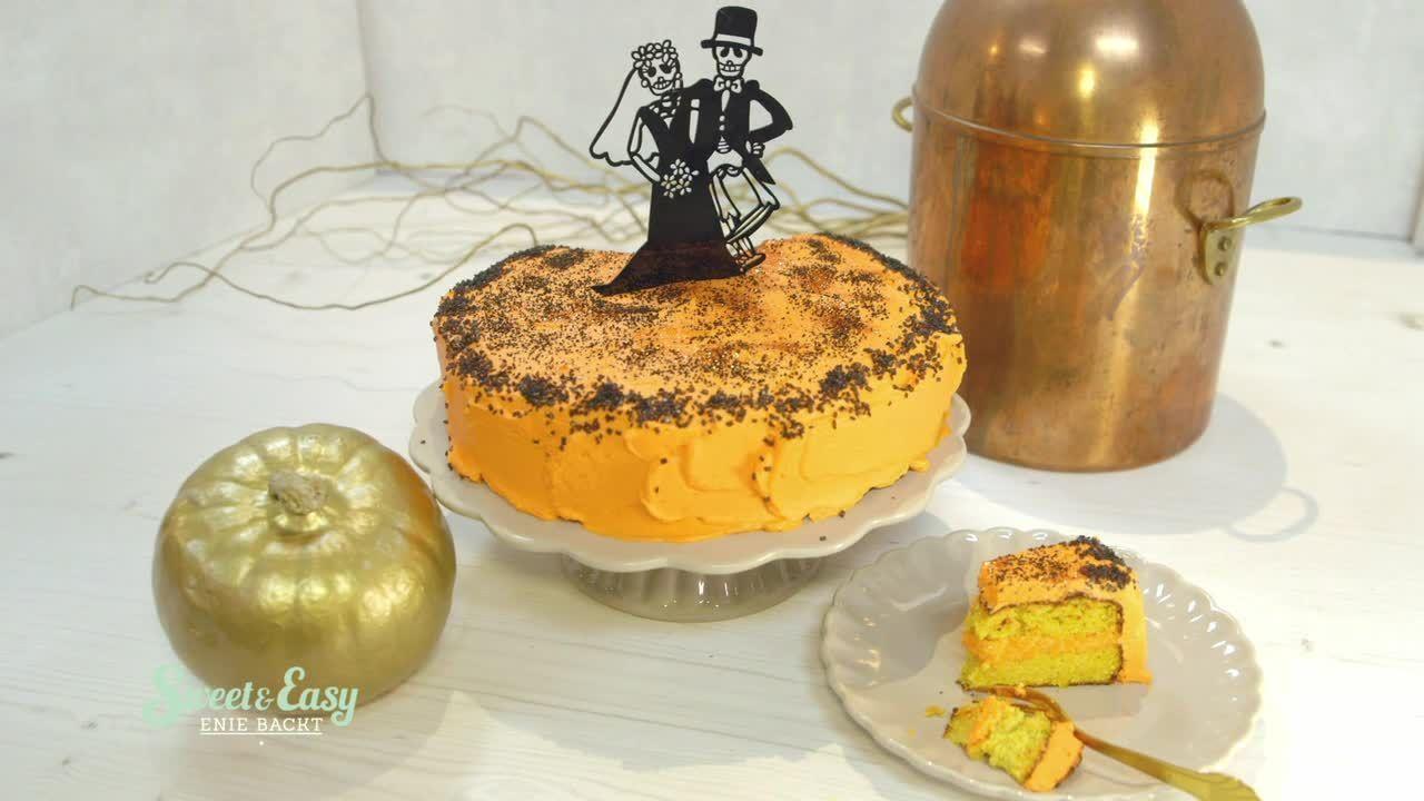 Halloween-Kürbis-Kuchen