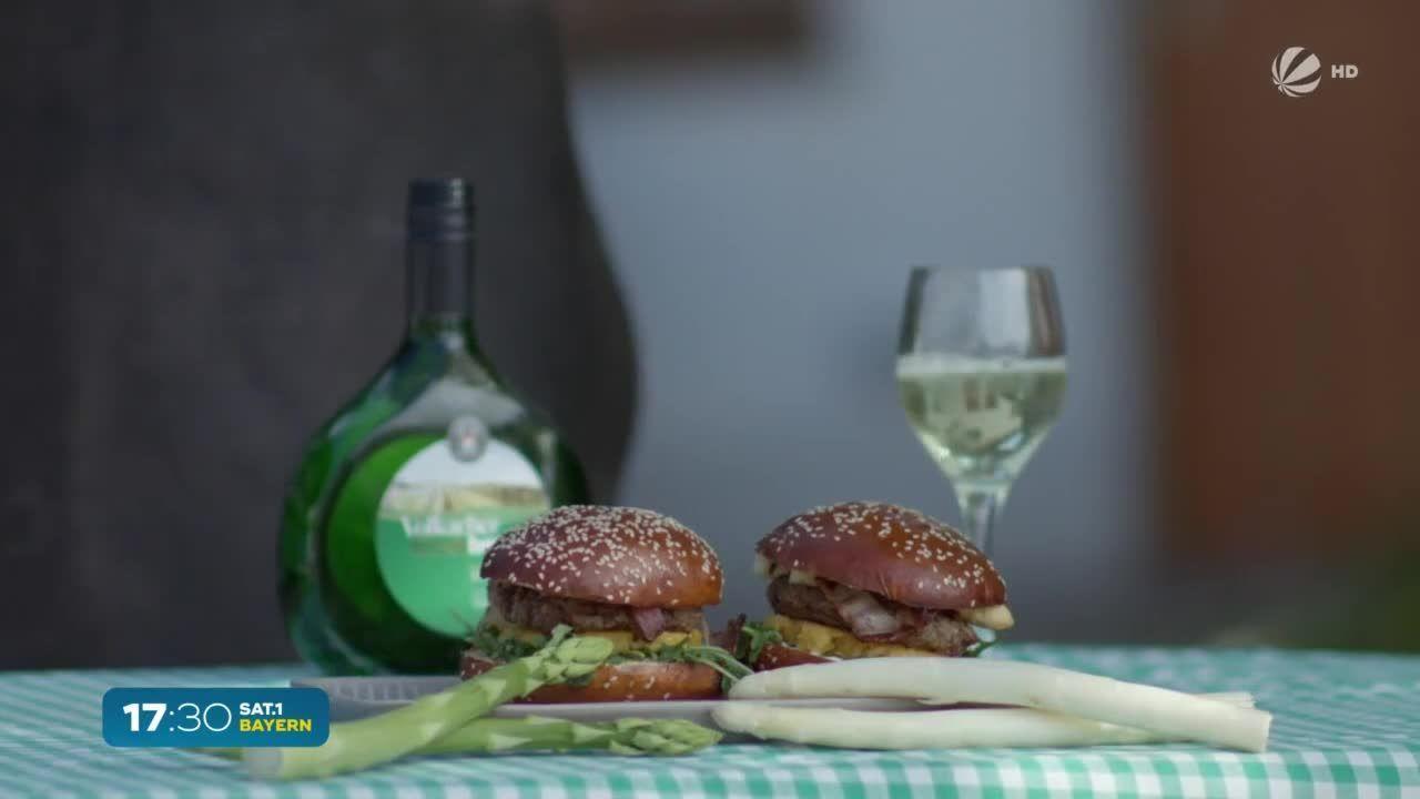 So schmeckt Bayern: Spargel-Burger vom Grill