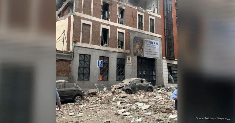 Im Zentrum von Madrid: Mehrstöckiges Gebäude explodiert